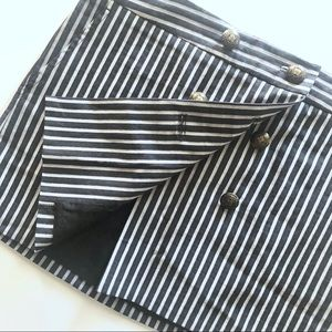 BCBGMaxAzria Striped Wrap Mini Skirt